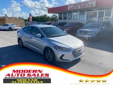 2018 Hyundai Elantra for sale at Modern Auto Sales in Hollywood FL