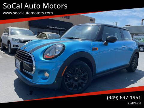 2016 MINI Hardtop 2 Door for sale at SoCal Auto Motors in Costa Mesa CA