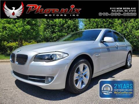 2012 BMW 5 Series for sale at Phoenix Motors Inc in Raleigh NC