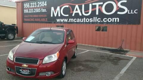2011 Chevrolet Aveo for sale at MC Autos LLC in Pharr TX