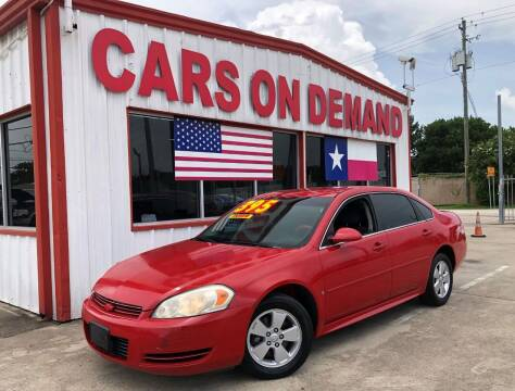 2009 Chevrolet Impala for sale at Cars On Demand 3 in Pasadena TX