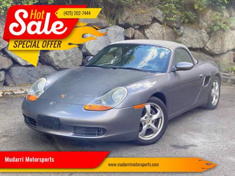 2001 Porsche Boxster for sale at Mudarri Motorsports in Kirkland WA