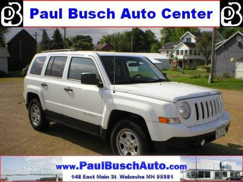 2014 Jeep Patriot for sale at Paul Busch Auto Center Inc in Wabasha MN