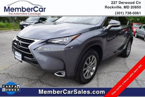 2017 Lexus NX 200t for sale at MemberCar in Rockville MD