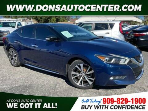 2017 Nissan Maxima for sale at Dons Auto Center in Fontana CA
