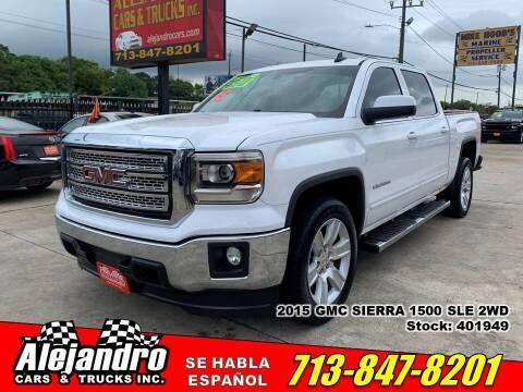 2015 GMC Sierra 1500 for sale at Alejandro Cars & Trucks Inc in Houston TX