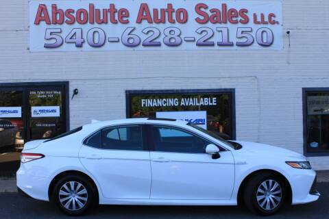 2019 Toyota Camry Hybrid for sale at Absolute Auto Sales in Fredericksburg VA