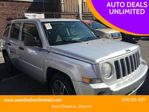 2008 Jeep Patriot for sale at AUTO DEALS UNLIMITED in Philadelphia PA