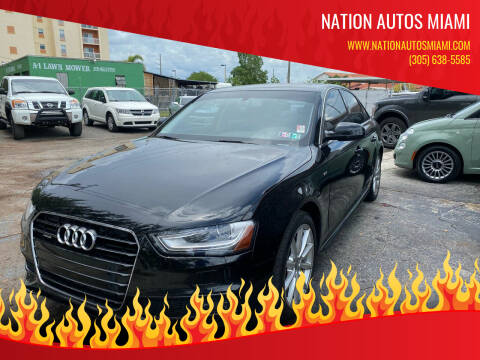 2016 Audi A4 for sale at Nation Autos Miami in Hialeah FL