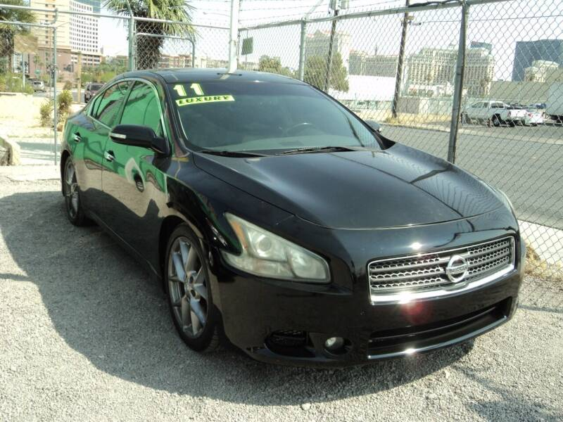 2011 Nissan Maxima for sale at DESERT AUTO TRADER in Las Vegas NV