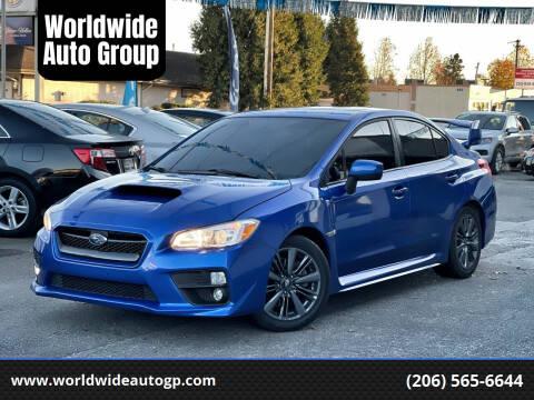 2015 Subaru WRX for sale at Worldwide Auto Group in Auburn WA