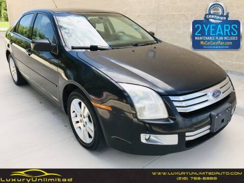 2007 Ford Fusion for sale at LUXURY UNLIMITED AUTO SALES in San Antonio TX