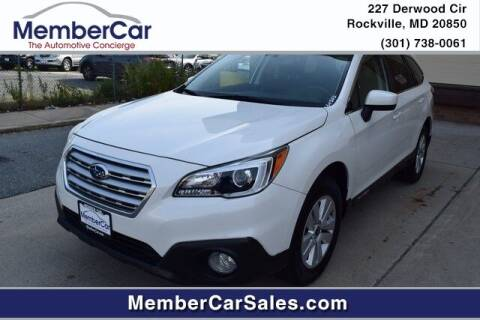 2015 Subaru Outback for sale at MemberCar in Rockville MD