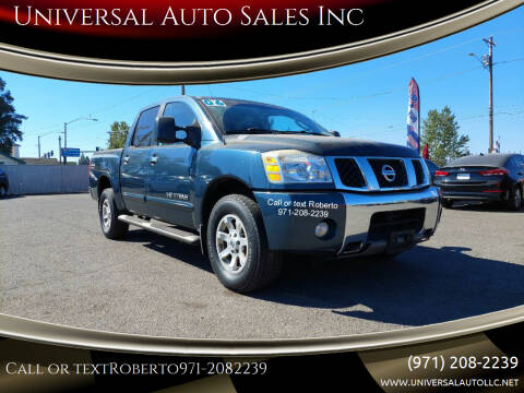 2006 Nissan Titan for sale at Universal Auto Sales Inc in Salem OR