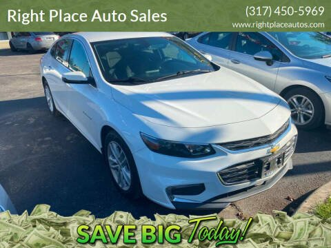 2017 Chevrolet Malibu for sale at Right Place Auto Sales in Indianapolis IN