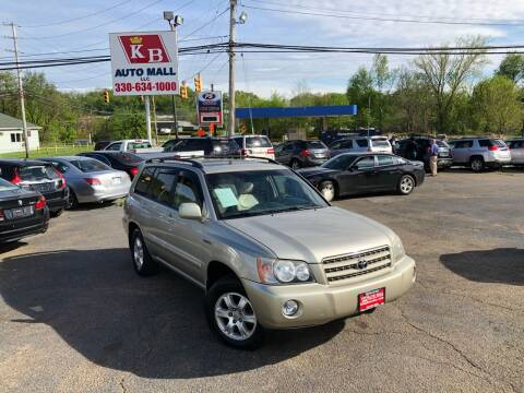 2002 Toyota Highlander for sale at KB Auto Mall LLC in Akron OH