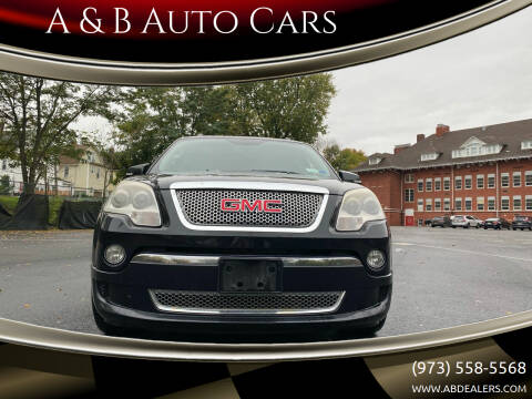 2012 GMC Acadia for sale at A & B Auto Cars in Newark NJ