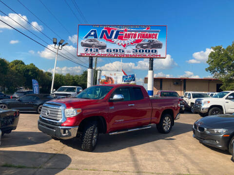 2015 Toyota Tundra for sale at ANF AUTO FINANCE in Houston TX