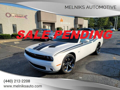 2017 Dodge Challenger for sale at Melniks Automotive in Berea OH