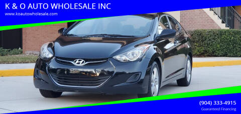2011 Hyundai Elantra for sale at K & O AUTO WHOLESALE INC in Jacksonville FL