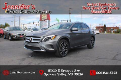 2015 Mercedes-Benz GLA for sale at Jennifer's Auto Sales in Spokane Valley WA