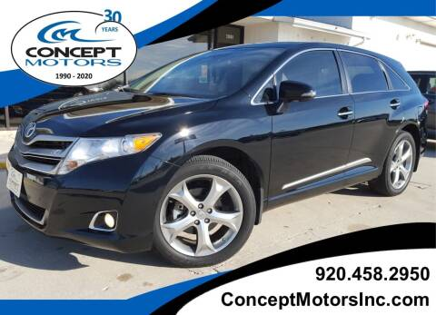 2013 Toyota Venza for sale at CONCEPT MOTORS INC in Sheboygan WI