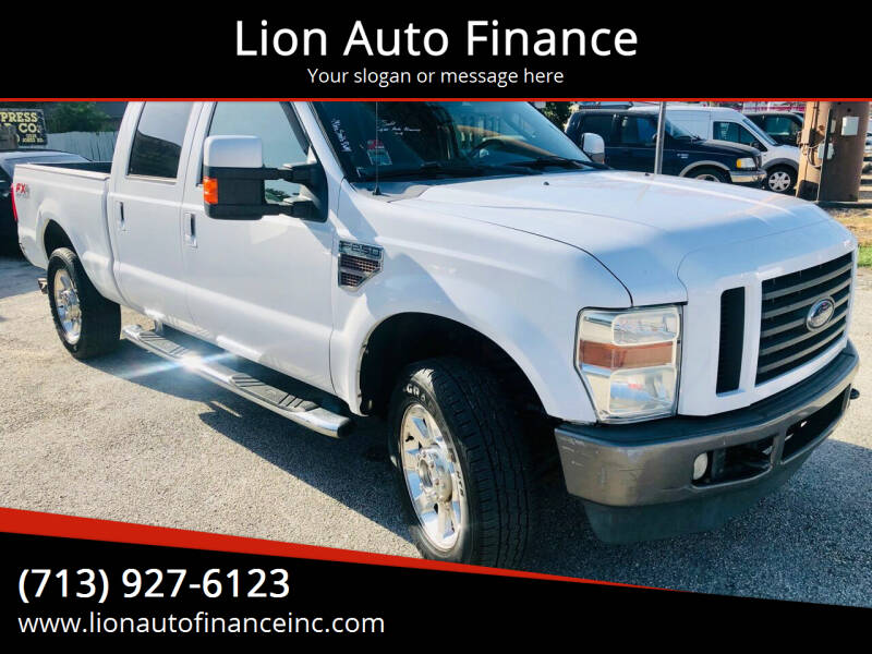 2009 Ford F-250 Super Duty for sale at Lion Auto Finance in Houston TX