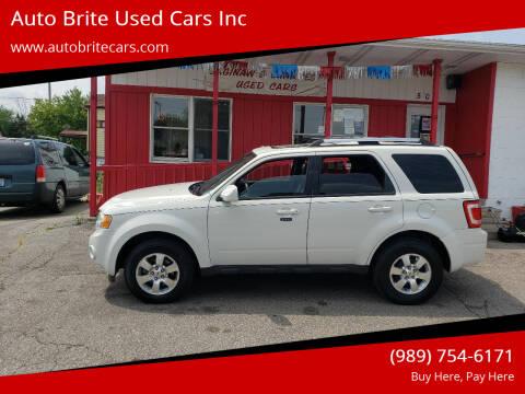 2011 Ford Escape for sale at Auto Brite Used Cars Inc in Saginaw MI