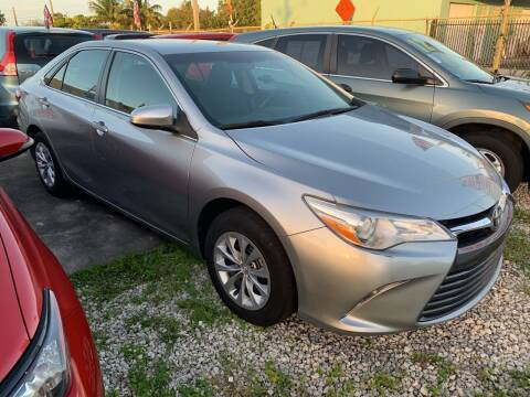 2015 Toyota Camry for sale at Dulux Auto Sales Inc & Car Rental in Hollywood FL