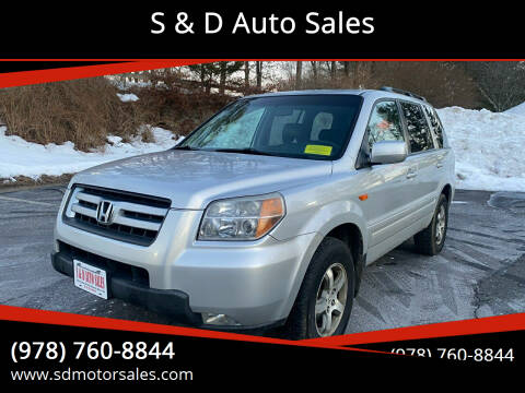 2008 Honda Pilot for sale at S & D Auto Sales in Maynard MA