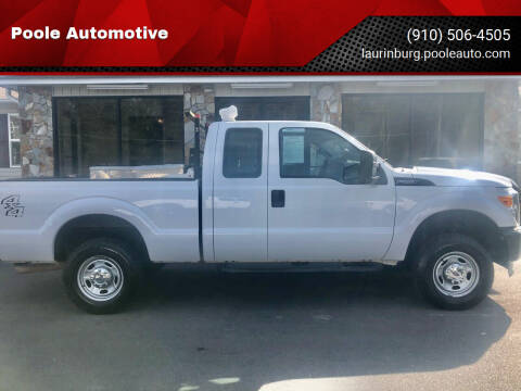 2013 Ford F-250 Super Duty for sale at Poole Automotive in Laurinburg NC