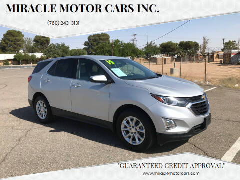 2019 Chevrolet Equinox for sale at Miracle Motor Cars Inc. in Victorville CA