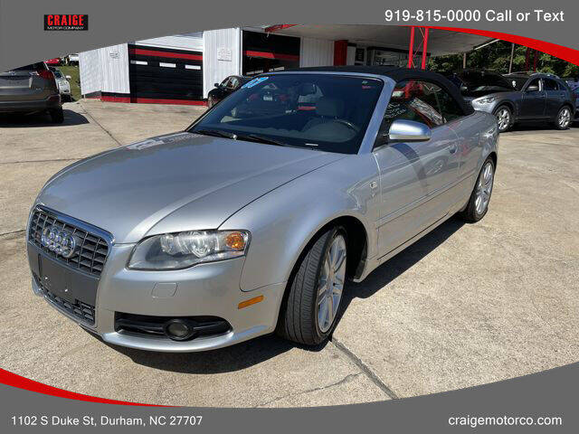 2007 Audi S4 for sale at CRAIGE MOTOR CO in Durham NC