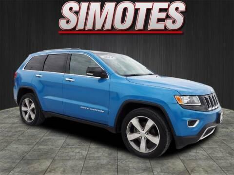 2014 Jeep Grand Cherokee for sale at SIMOTES MOTORS in Minooka IL