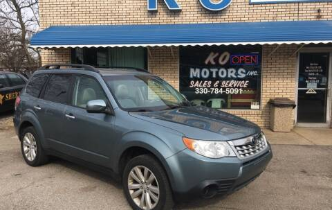 2011 Subaru Forester for sale at K O Motors in Akron OH