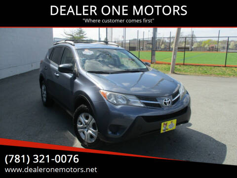 2013 Toyota RAV4 for sale at DEALER ONE MOTORS in Malden MA