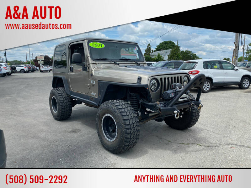 2004 Jeep Wrangler for sale at A&A AUTO in Fairhaven MA