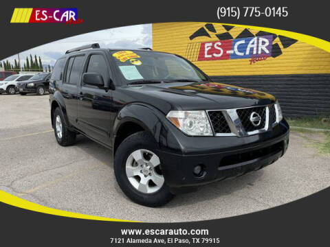 2006 Nissan Pathfinder for sale at Escar Auto - 9809 Montana Ave Lot in El Paso TX