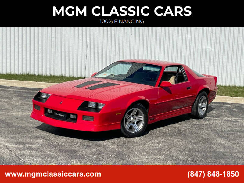 1989 Chevrolet Camaro for sale at MGM CLASSIC CARS in Addison, IL