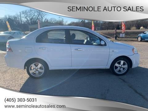2008 Chevrolet Aveo for sale at Seminole Auto Sales in Seminole OK