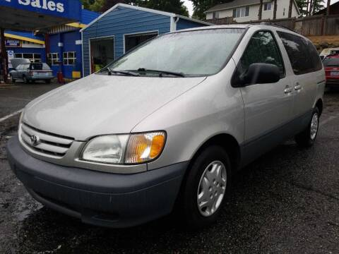 2003 Toyota Sienna for sale at Shoreline Family Auto Sales in Shoreline WA