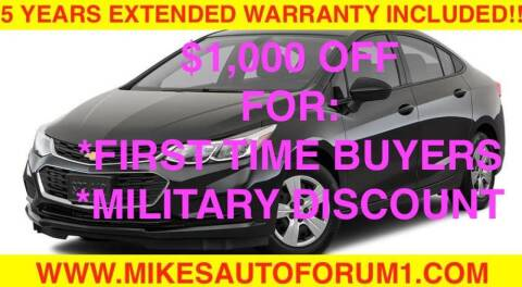 2018 Chevrolet Cruze for sale at Mikes Auto Forum in Bensenville IL
