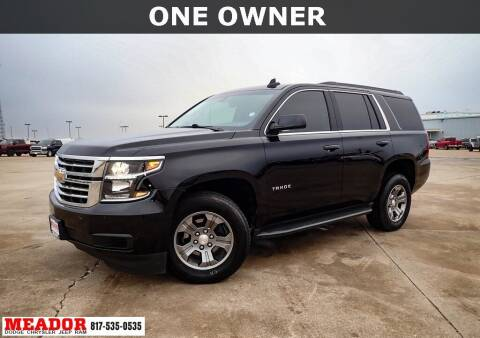 2019 Chevrolet Tahoe for sale at Meador Dodge Chrysler Jeep RAM in Fort Worth TX