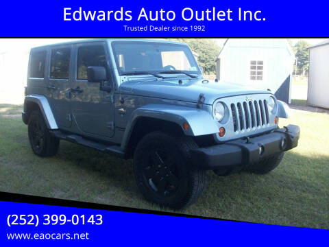2012 Jeep Wrangler Unlimited for sale at Edwards Auto Outlet Inc. in Wilson NC