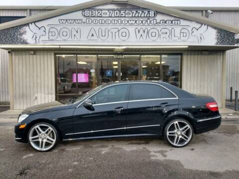 2011 Mercedes-Benz E-Class for sale at Don Auto World in Houston TX