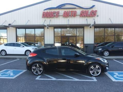 2013 Hyundai Veloster for sale at DOUG'S AUTO SALES INC in Pleasant View TN