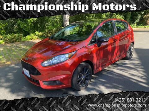 2019 Ford Fiesta for sale at Championship Motors in Redmond WA