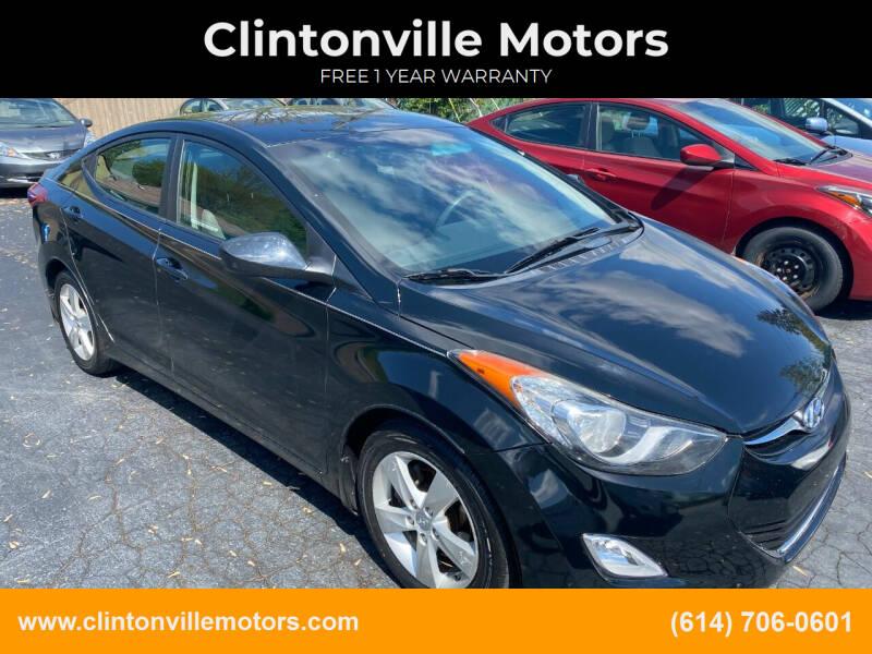 2012 Hyundai Elantra for sale at Clintonville Motors in Columbus OH