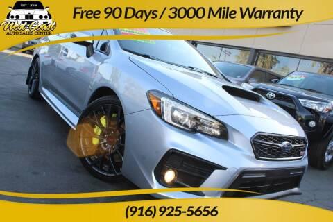 2018 Subaru WRX for sale at West Coast Auto Sales Center in Sacramento CA