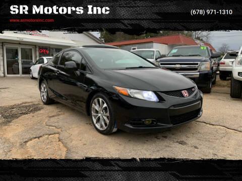 2012 Honda Civic for sale at SR Motors Inc in Gainesville GA